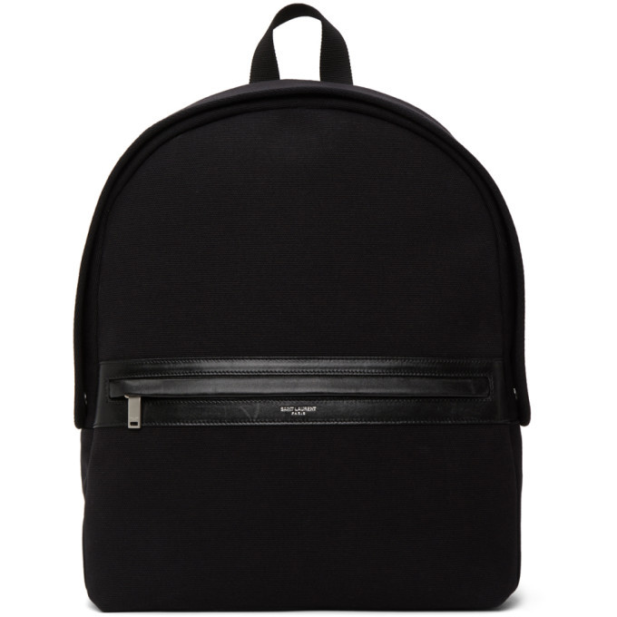 Photo: Saint Laurent Black Camp Backpack