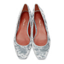 3.1 Phillip Lim Grey Velvet Square Ballerina Flats