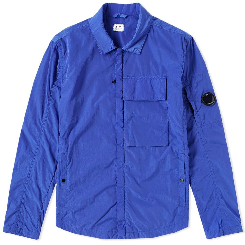 C.P. Company Chrome Arm Lens Shirt Jacket Blue