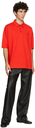 Raf Simons Red Fred Perry Edition Button Down Collar Polo