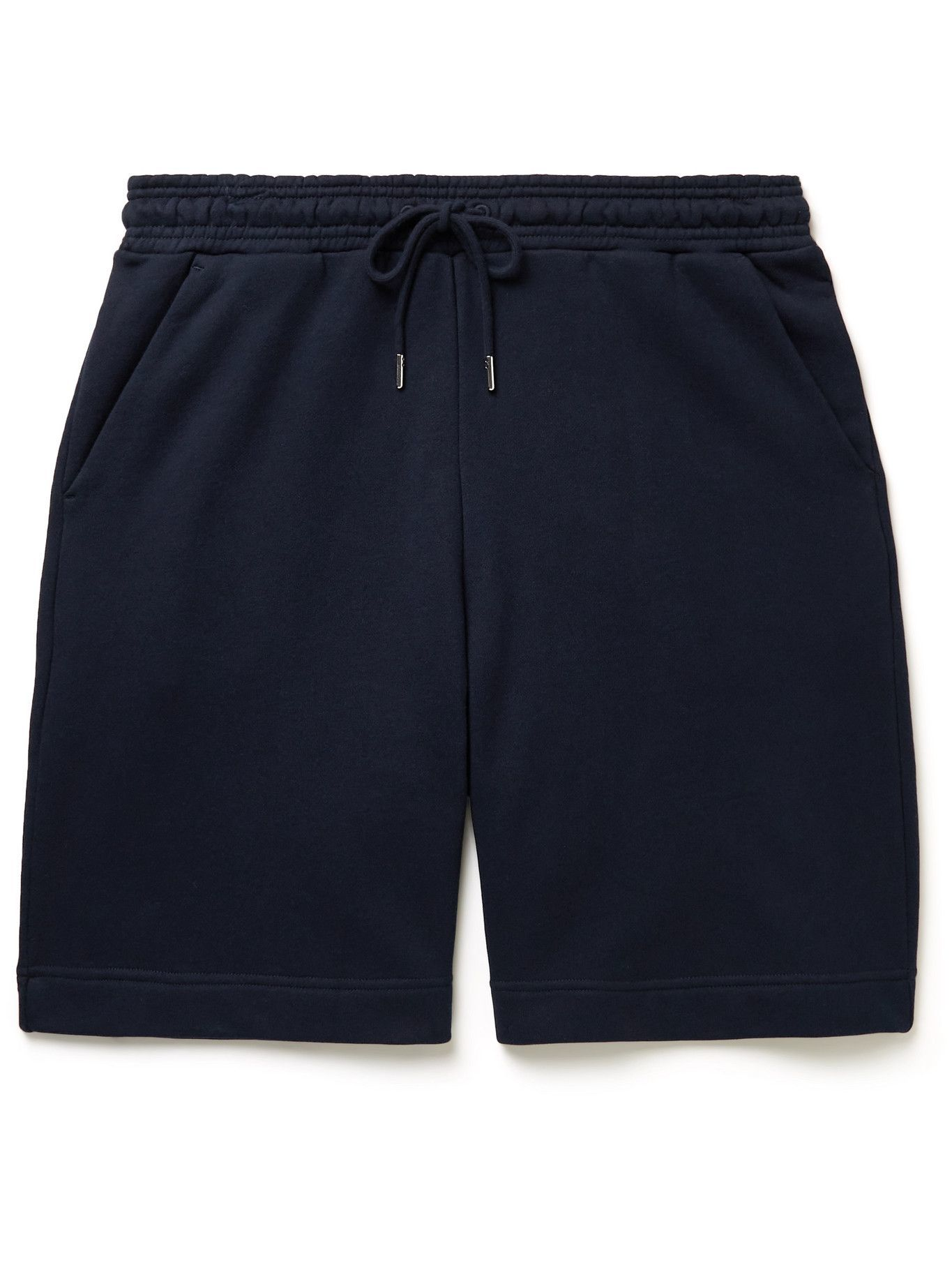 Photo: Ninety Percent - Wide-Leg Organic Cotton-Jersey Drawstring Shorts - Blue