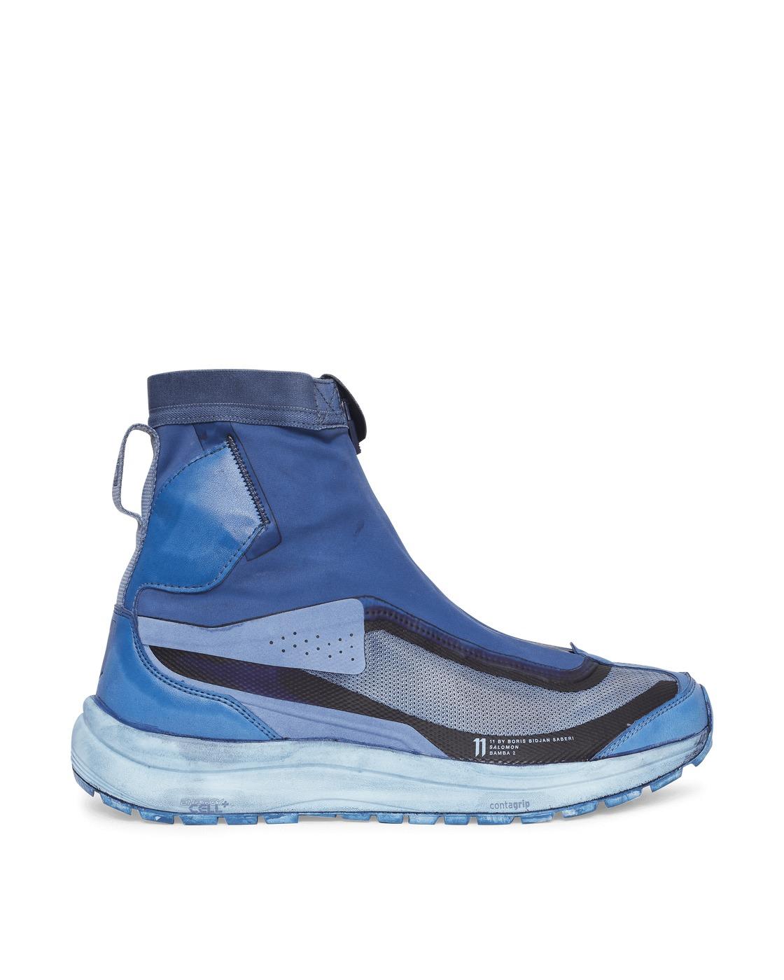 Photo: Salomon Boris Bidjan Saberi Bamba 2 High Sneakers Synth Blue