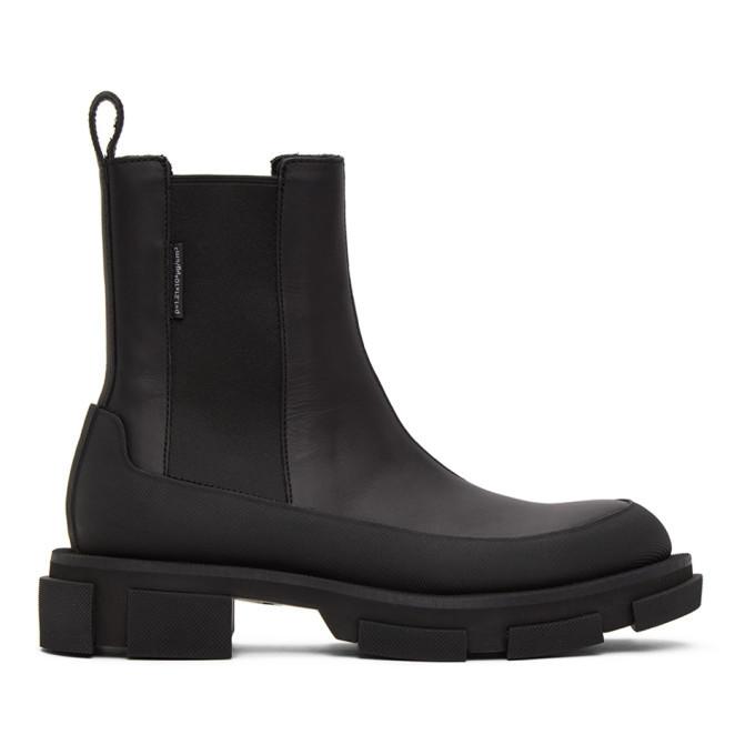 Photo: both Black Platform Gao Chelsea Boots
