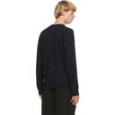 Giorgio Armani Reversible Navy Cashmere Sweater