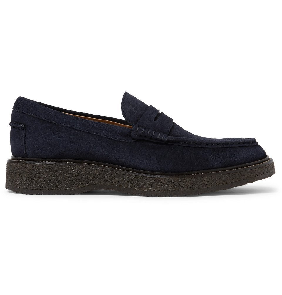 Tod's - Suede Penny Loafers - Men - Navy