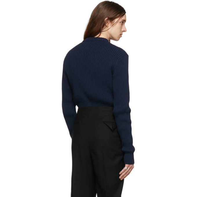 Bottega Veneta Navy Cotton Sweater