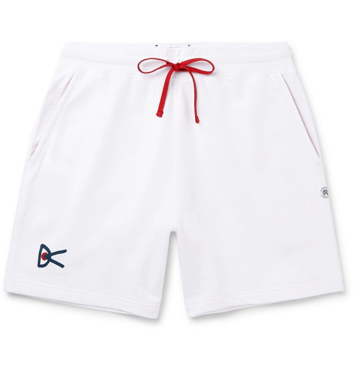 Photo: DISTRICT VISION - Reigning Champ Retreat Loopback Cotton-Jersey Shorts - White