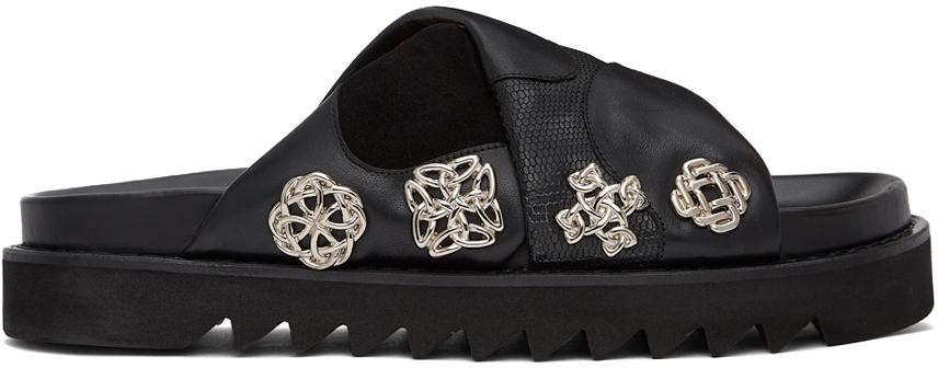 Photo: Toga Virilis Black Leather & Suede Sandals