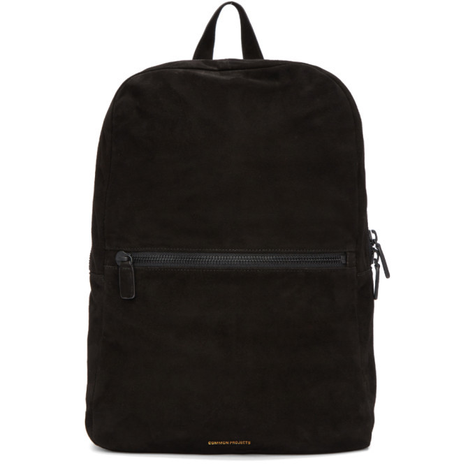 Photo: Common Projects Black Suede Simple Backpack