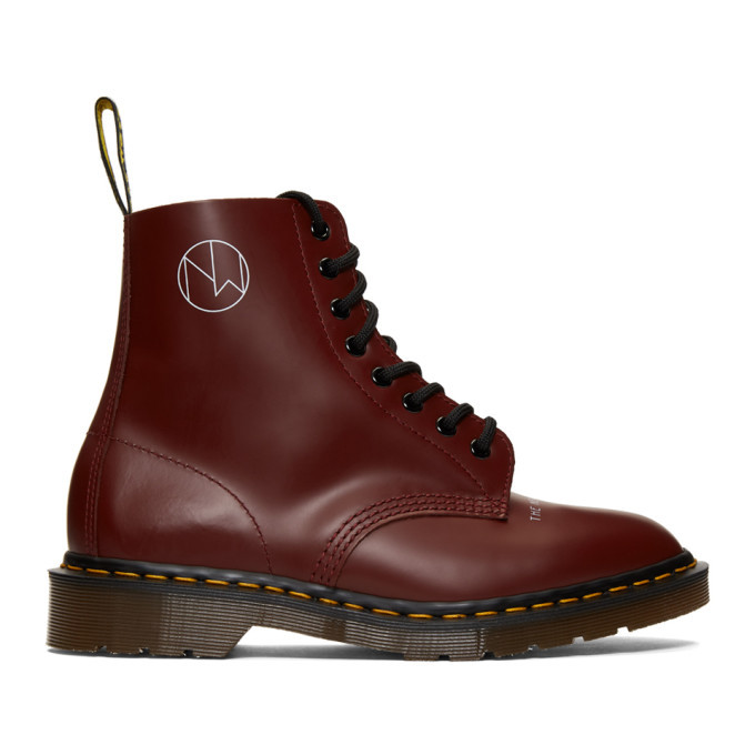 Photo: Undercover Red Dr Martens Edition 1460 Boots