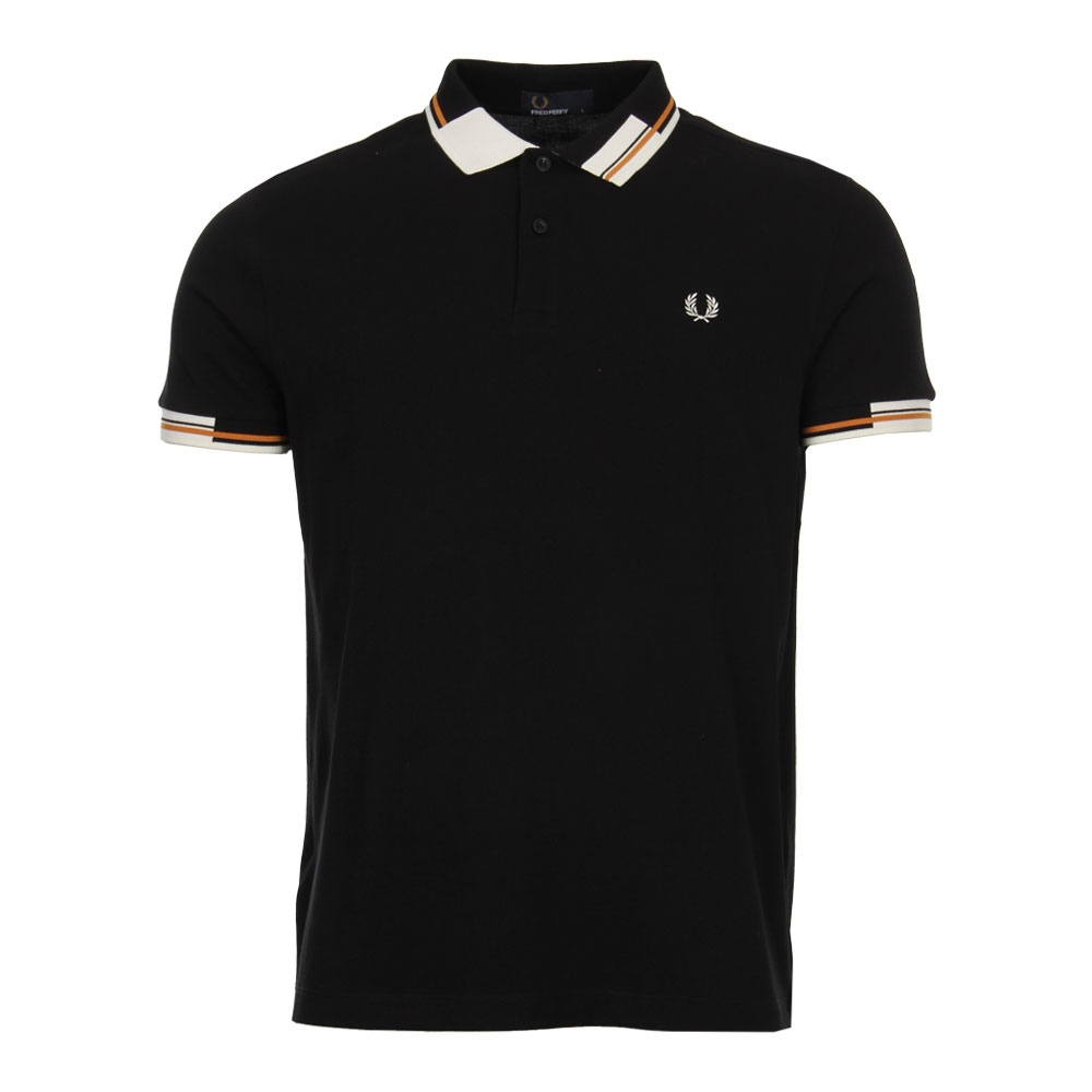 Photo: Polo Shirt - Abstract Tipped Black