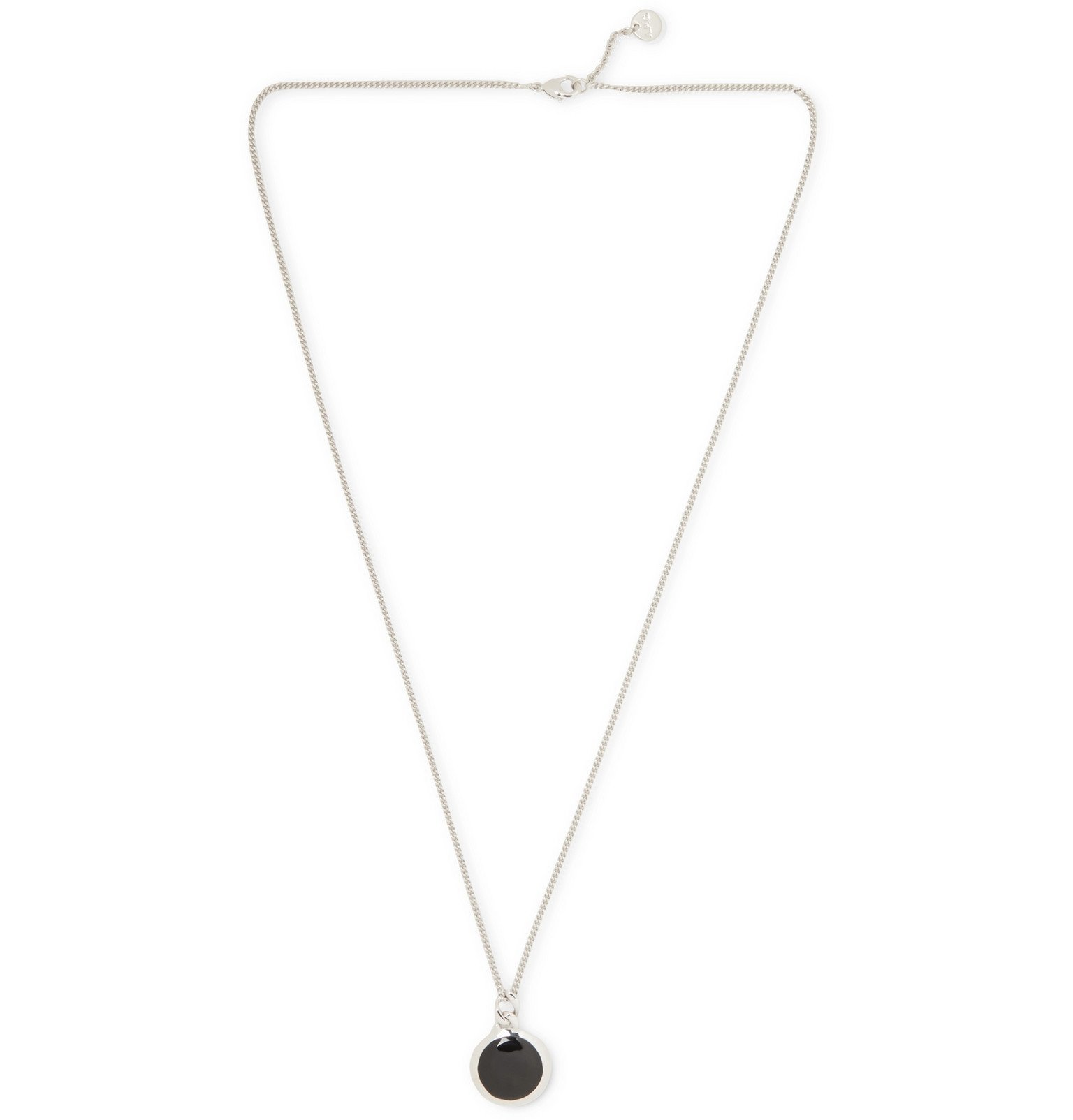 Photo: A.P.C. - Silver-Tone and Enamel Necklace - Silver