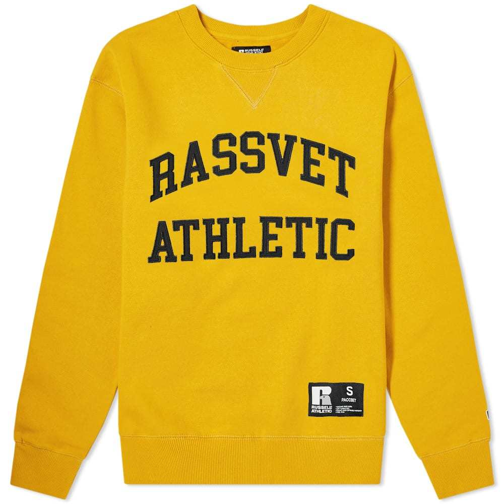 Photo: PACCBET x Russell Athletic Crew Sweat Yellow