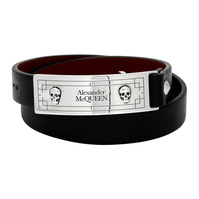 Photo: Alexander McQueen Black Snake Tag Wrap Bracelet
