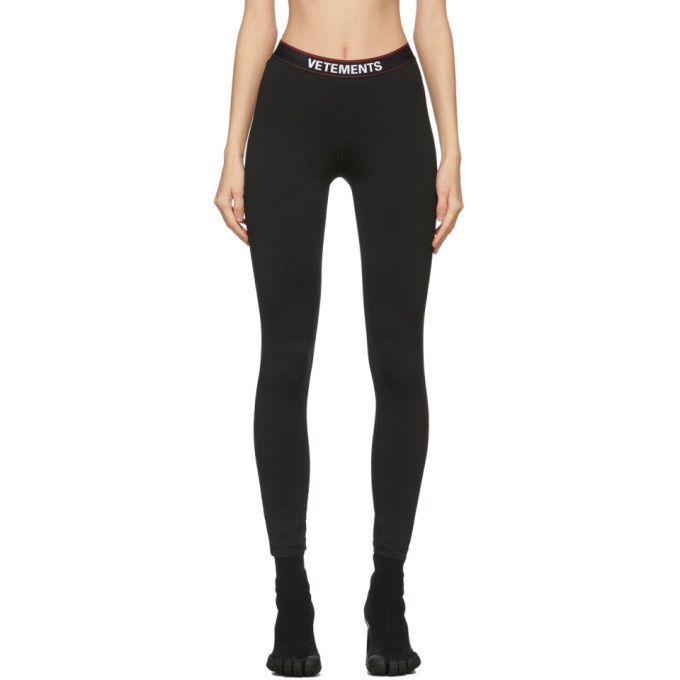 Photo: VETEMENTS Black Logo Leggings