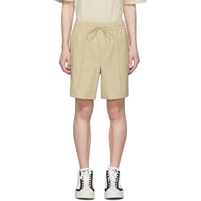 Photo: Y-3 Khaki Wool Classic Shorts