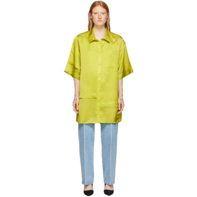 Nina Ricci Green Layered Short Sleeve Shirt