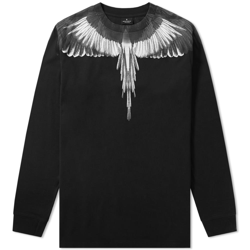 Photo: Marcelo Burlon Long Sleeve Wings Shoulder Tee