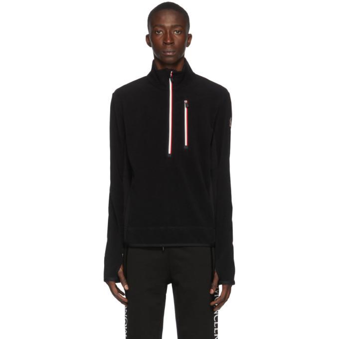Photo: Moncler Grenoble Black Fleece Half-Zip Jacket