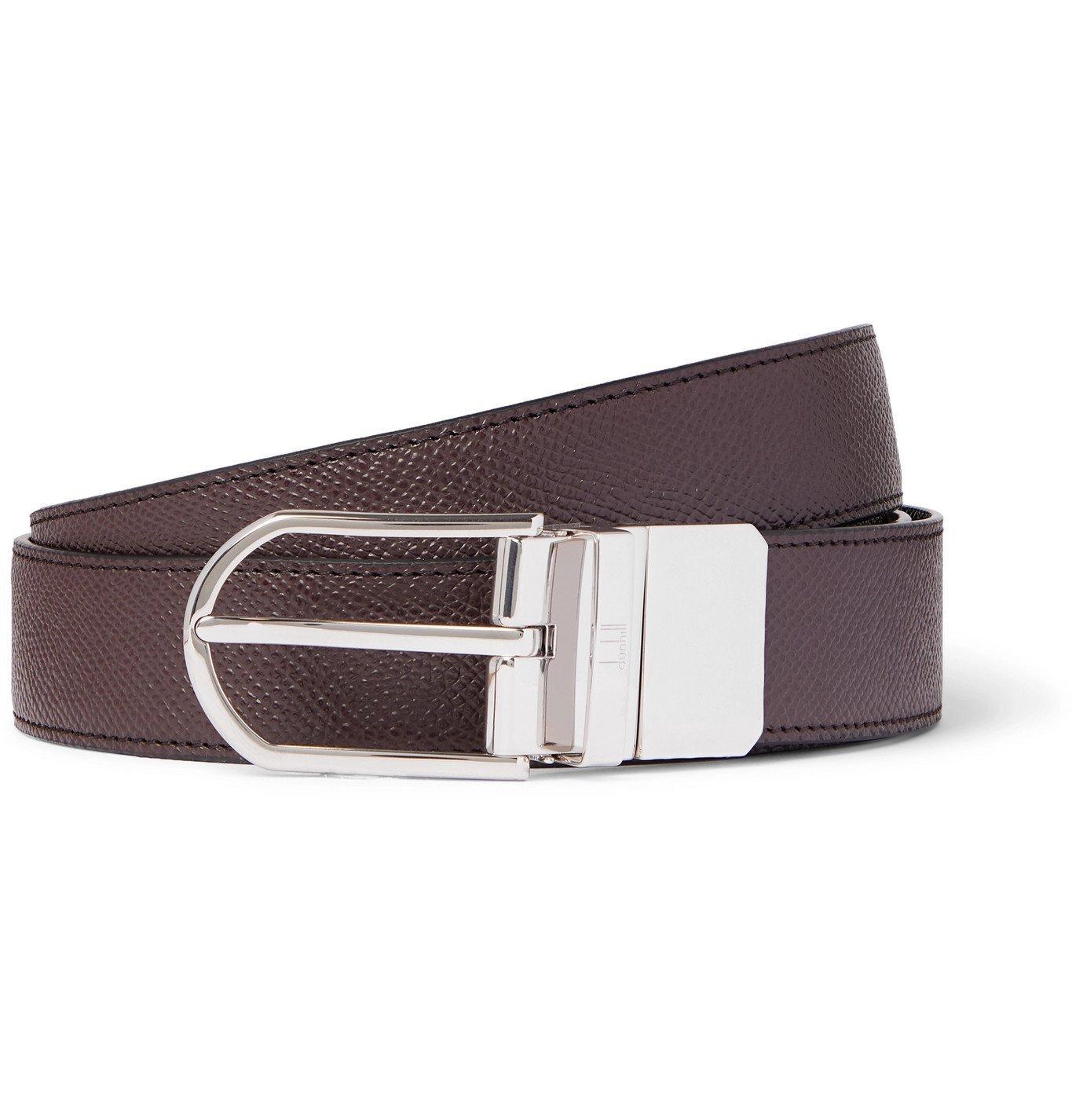 DUNHILL - 3cm Reversible Full-Grain Leather Belt - Brown