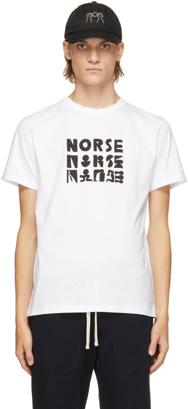 Photo: Norse Projects White Geoff McFetridge Edition Logo T-Shirt