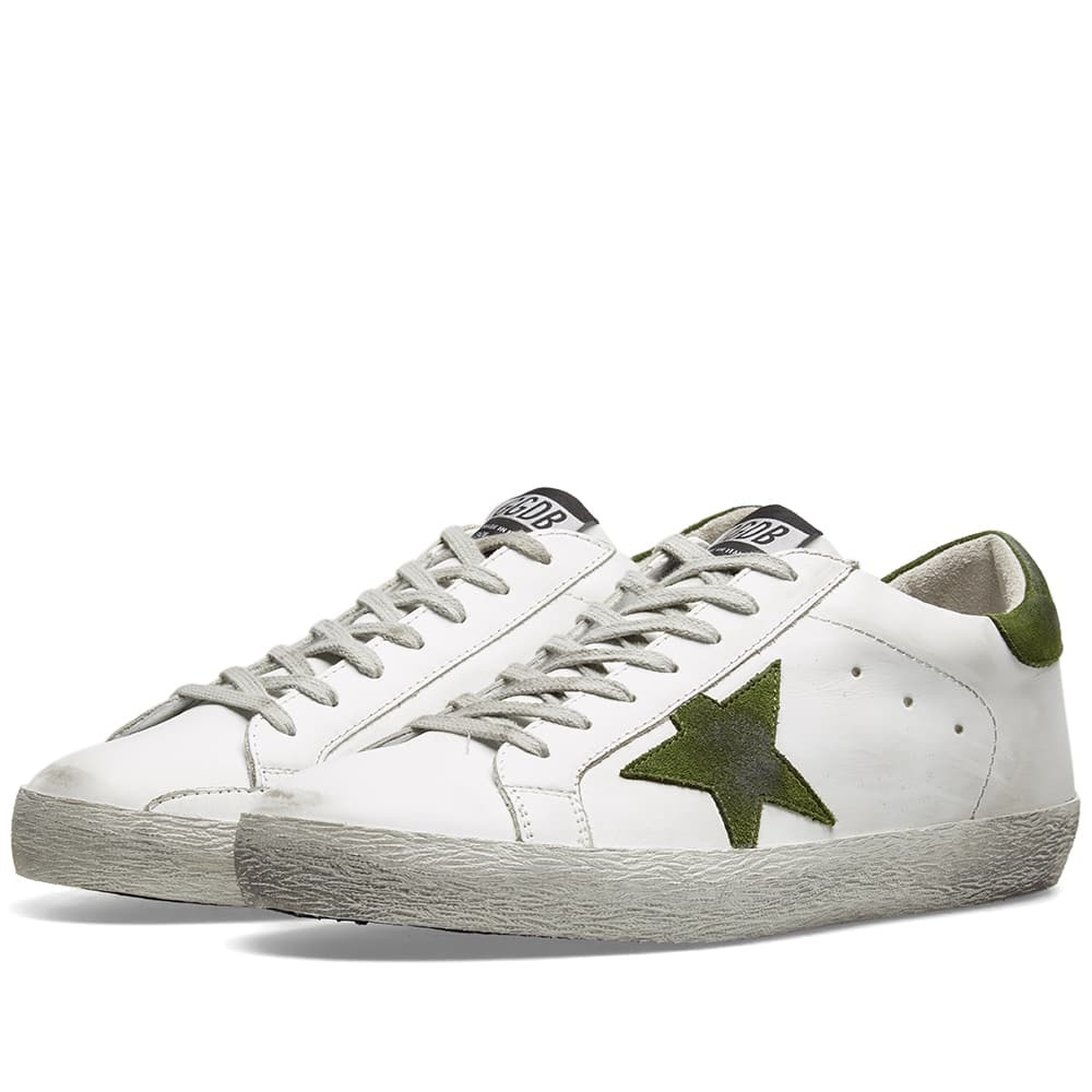 Photo: Golden Goose Deluxe Brand Superstar Leather Sneaker White & Green