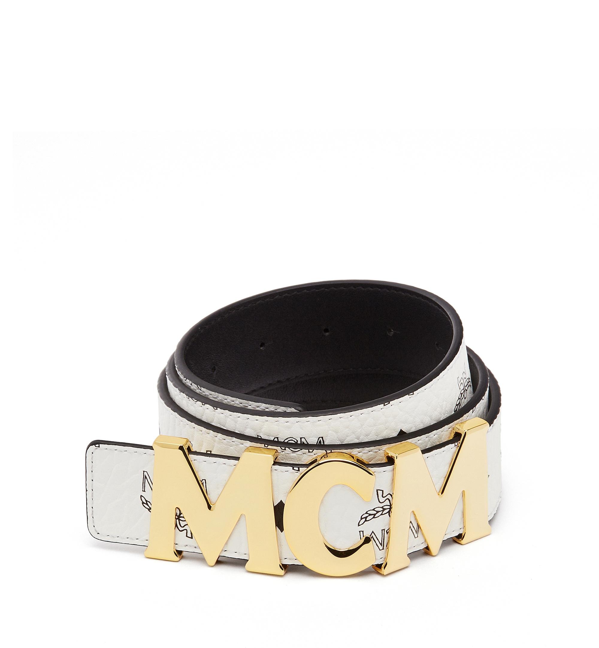 "Photo: Mcm Letter Belt 1.5"" In Visetos"