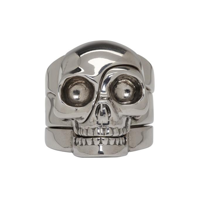 Photo: Alexander McQueen Silver Divided Skull Ring