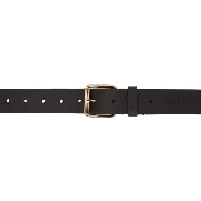 Photo: Gosha Rubchinskiy Black Embossed Leather Belt