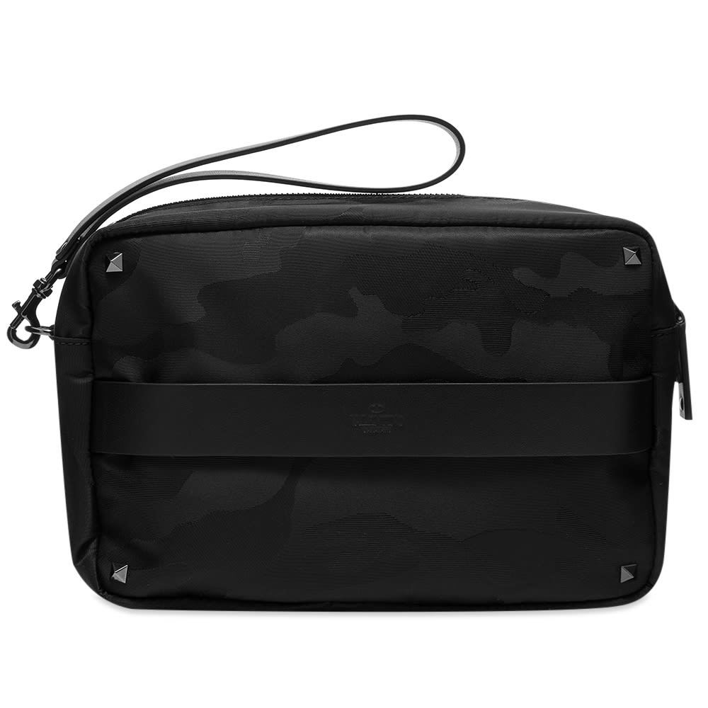 Photo: Valentino Large Jaquard Camo Washbag