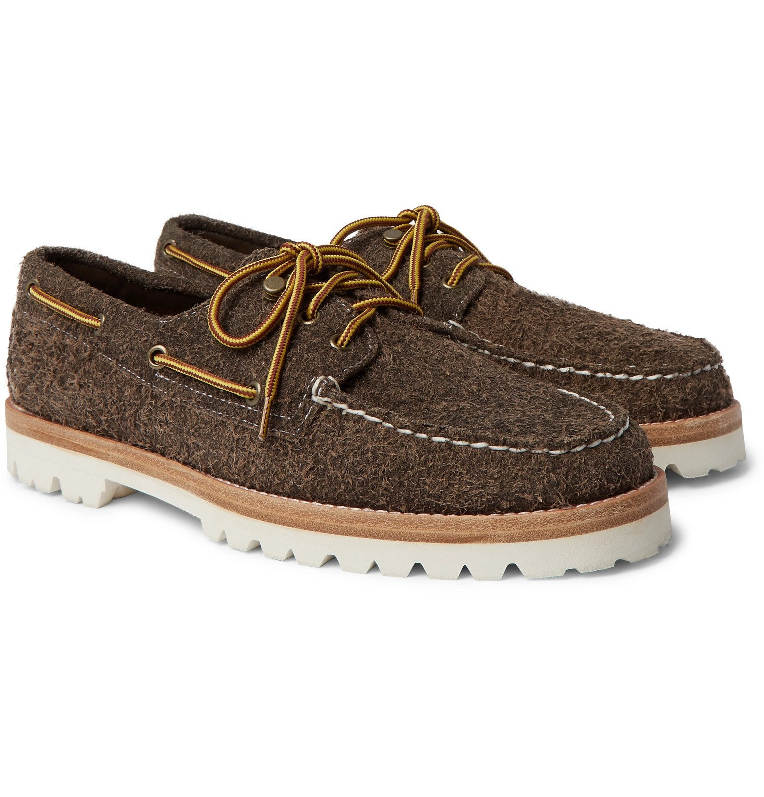 Photo: Sperry - Authentic Original Brushed-Suede Boat Shoes - Brown