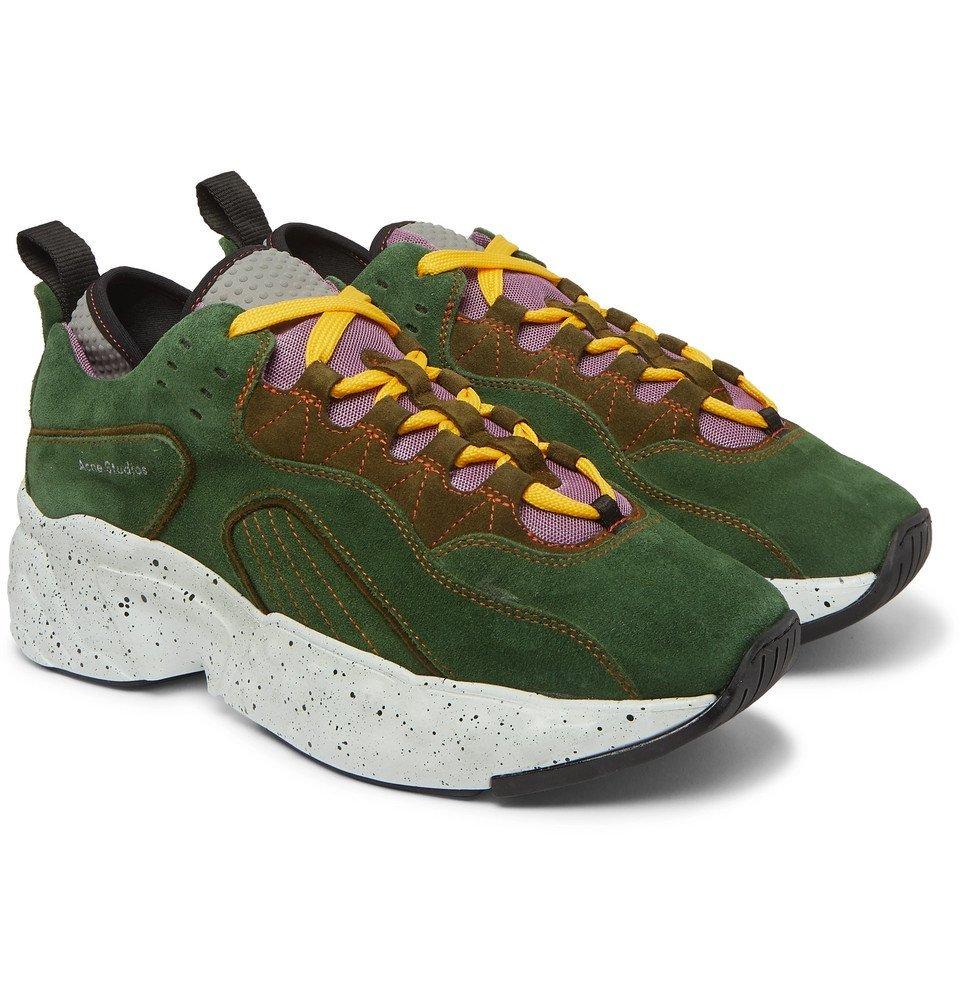 Acne Studios - Rockaway Suede Sneakers - Army green