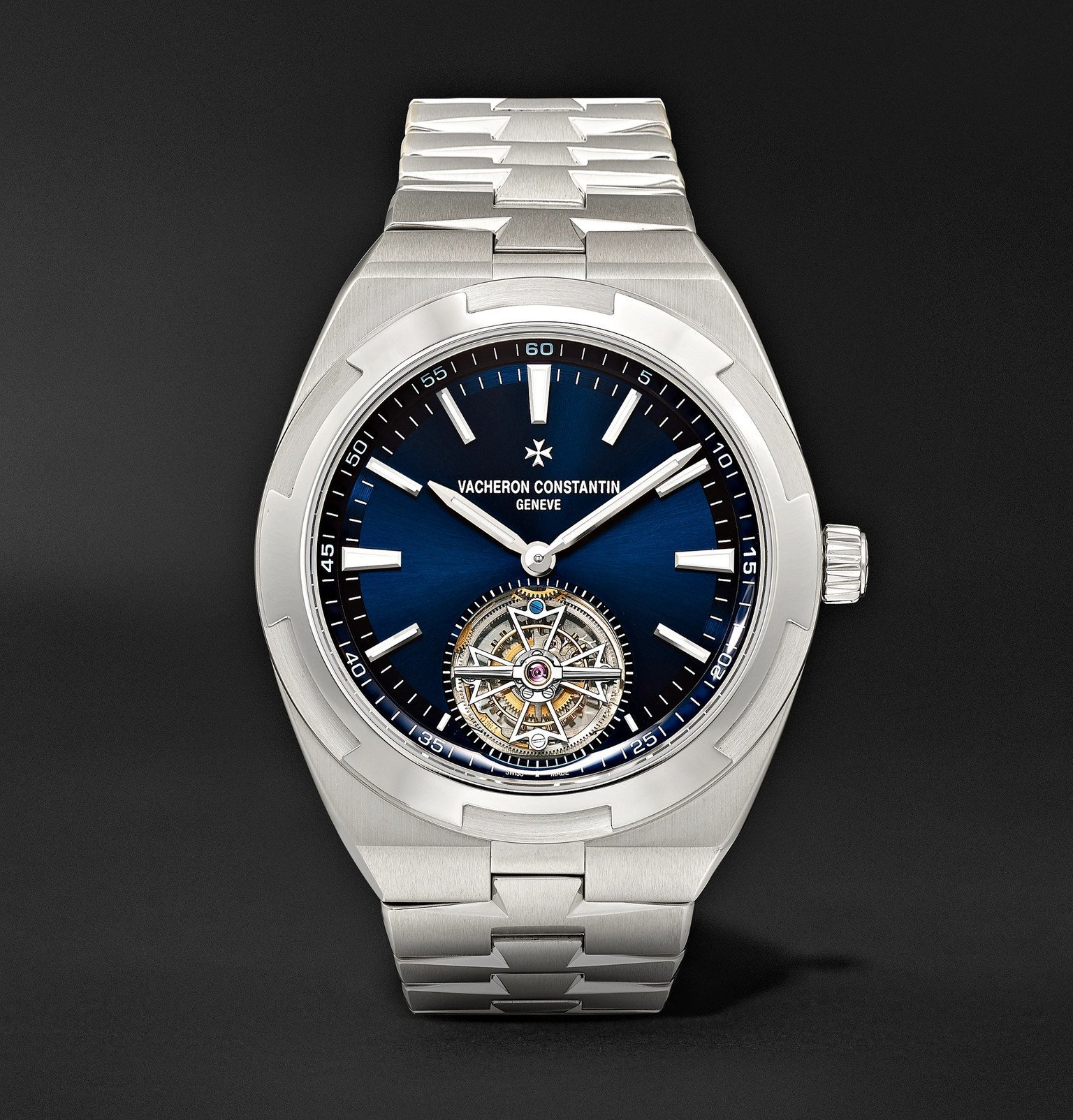 Photo: Vacheron Constantin - Overseas Tourbillon Automatic 42.5mm Stainless Steel Watch, Ref. No 6000V/110A-B544 - Blue