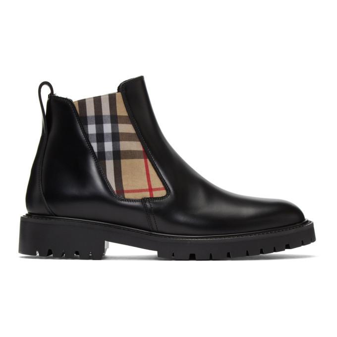 Photo: Burberry Black Allostock M Chelsea Boots