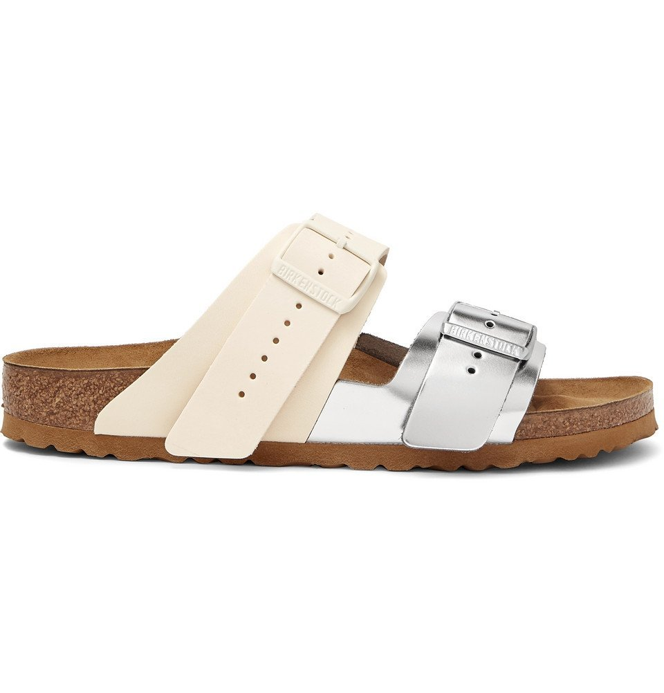 Photo: Rick Owens - Birkenstock Arizona Two-Tone Leather Sandals - Off-white