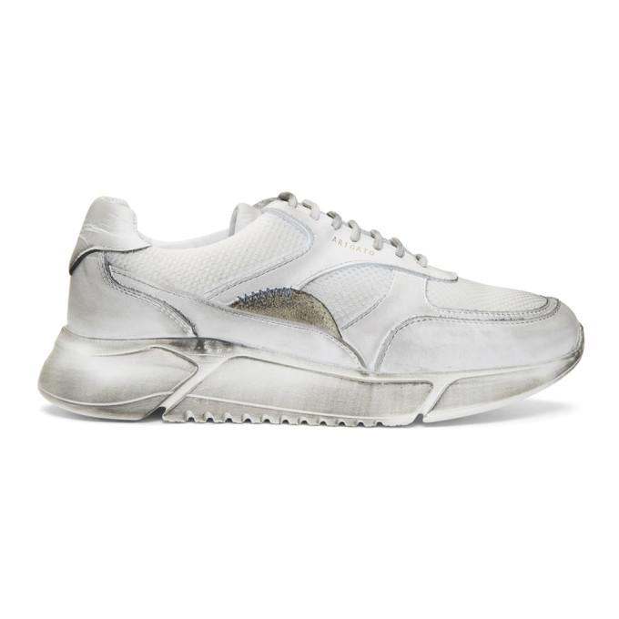 Axel Arigato White Distressed Genesis Sneakers