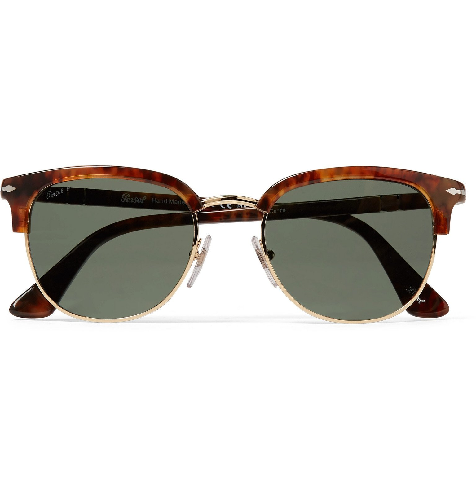 Photo: Persol - Round-Frame Tortoiseshell Acetate and Gold-Tone Sunglasses - Brown