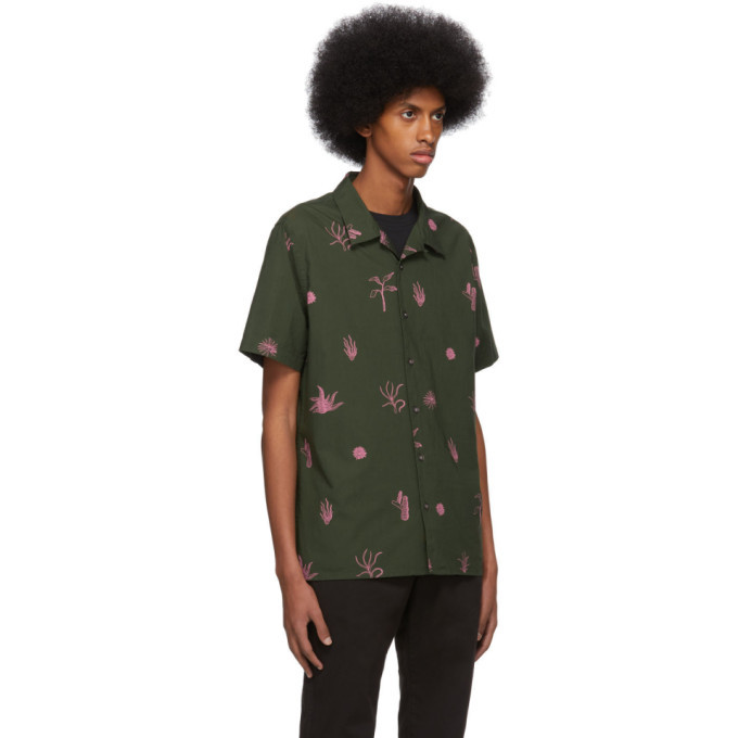 PS by Paul Smith Green and Pink Print Casual Shirt