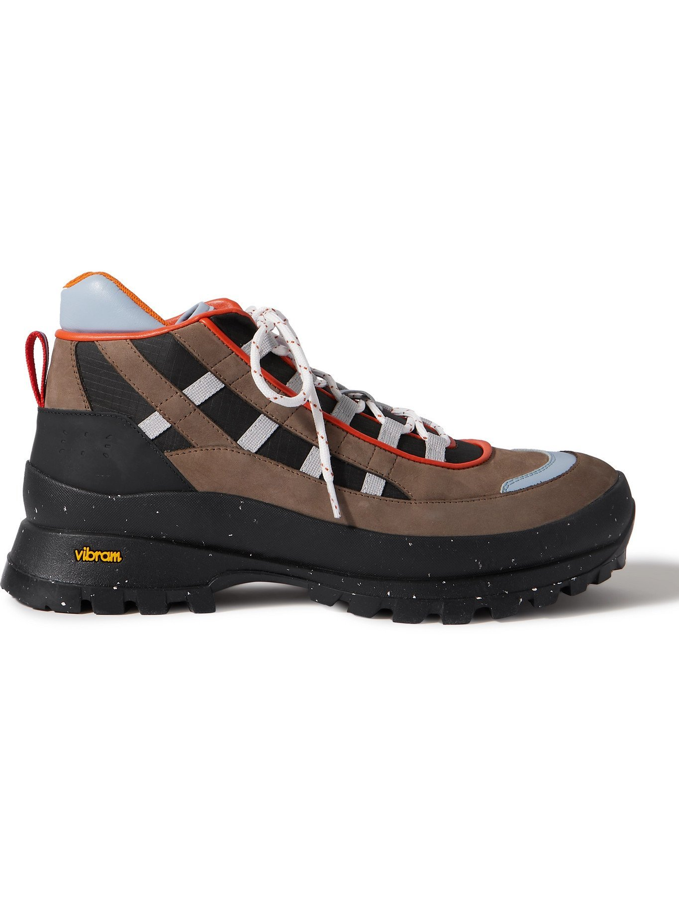 Photo: MCQ - Albion 4 Leather and Riptstop-Trimmed Suede Hiking Boots - Brown