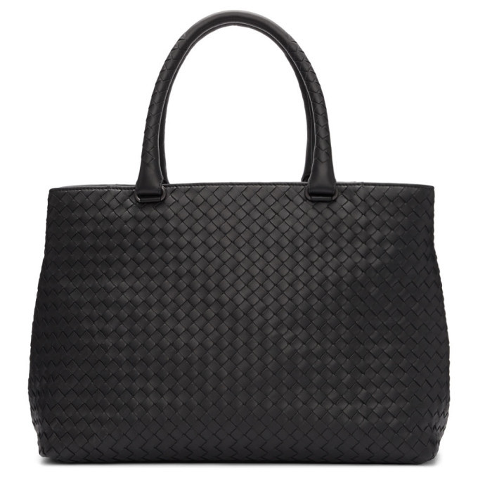 Photo: Bottega Veneta Black Intrecciato Leather Tote