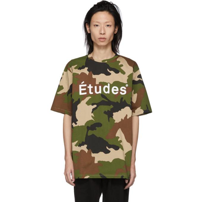 Photo: Etudes Green and Brown Camo Wonder T-Shirt