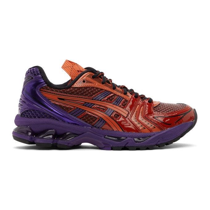 Photo: Asics Red and Purple UB1-S Gel-Kayano 14 Sneakers