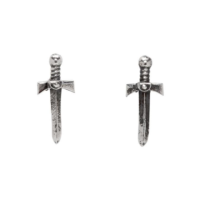 Photo: Luka Sabbat x Monini Silver Mini Sword Earrings