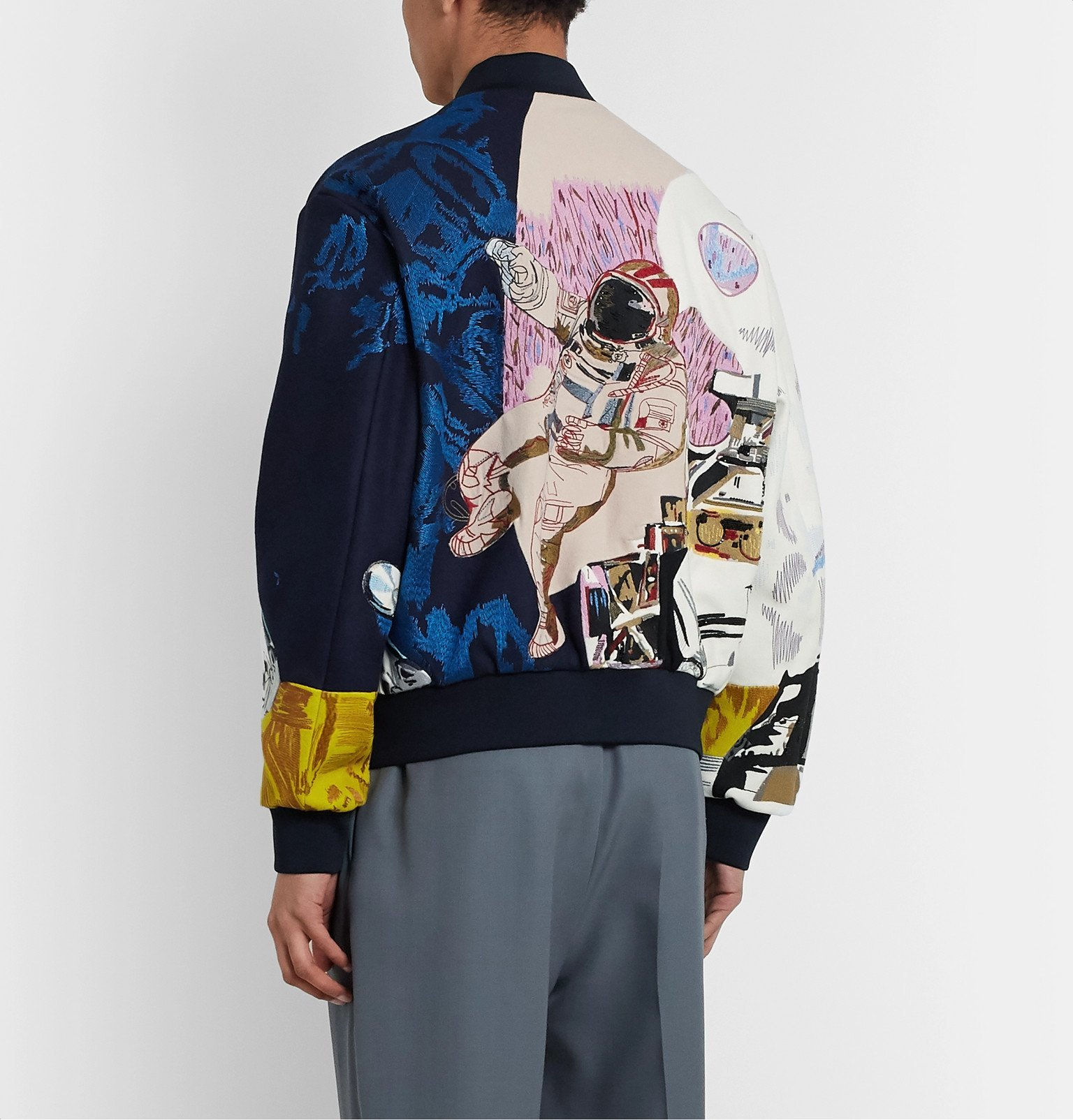 Valentino - Embroidered Wool Bomber Jacket - Multi