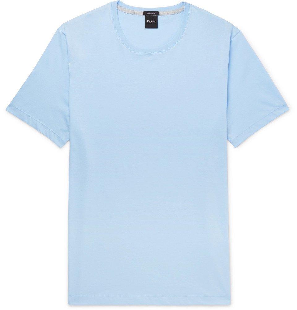 Photo: Hugo Boss - Slim-Fit Cotton-Jersey T-Shirt - Blue