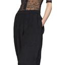 Nina Ricci Black Lace Inlay Lounge Pants