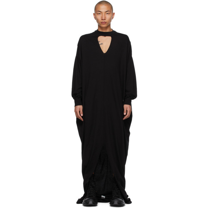 Photo: Rick Owens Drkshdw Black Eclipse Long Sleeve Gown T-Shirt
