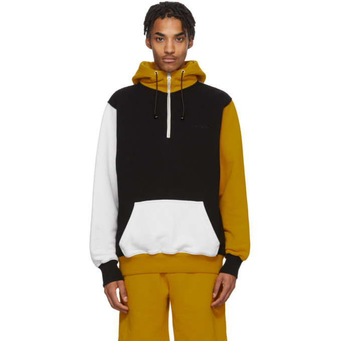 Photo: Marni Black and Yellow Colorblock Hoodie
