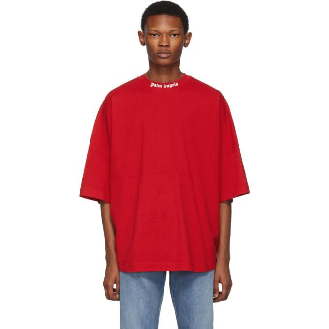 Palm Angels Red Logo T-Shirt