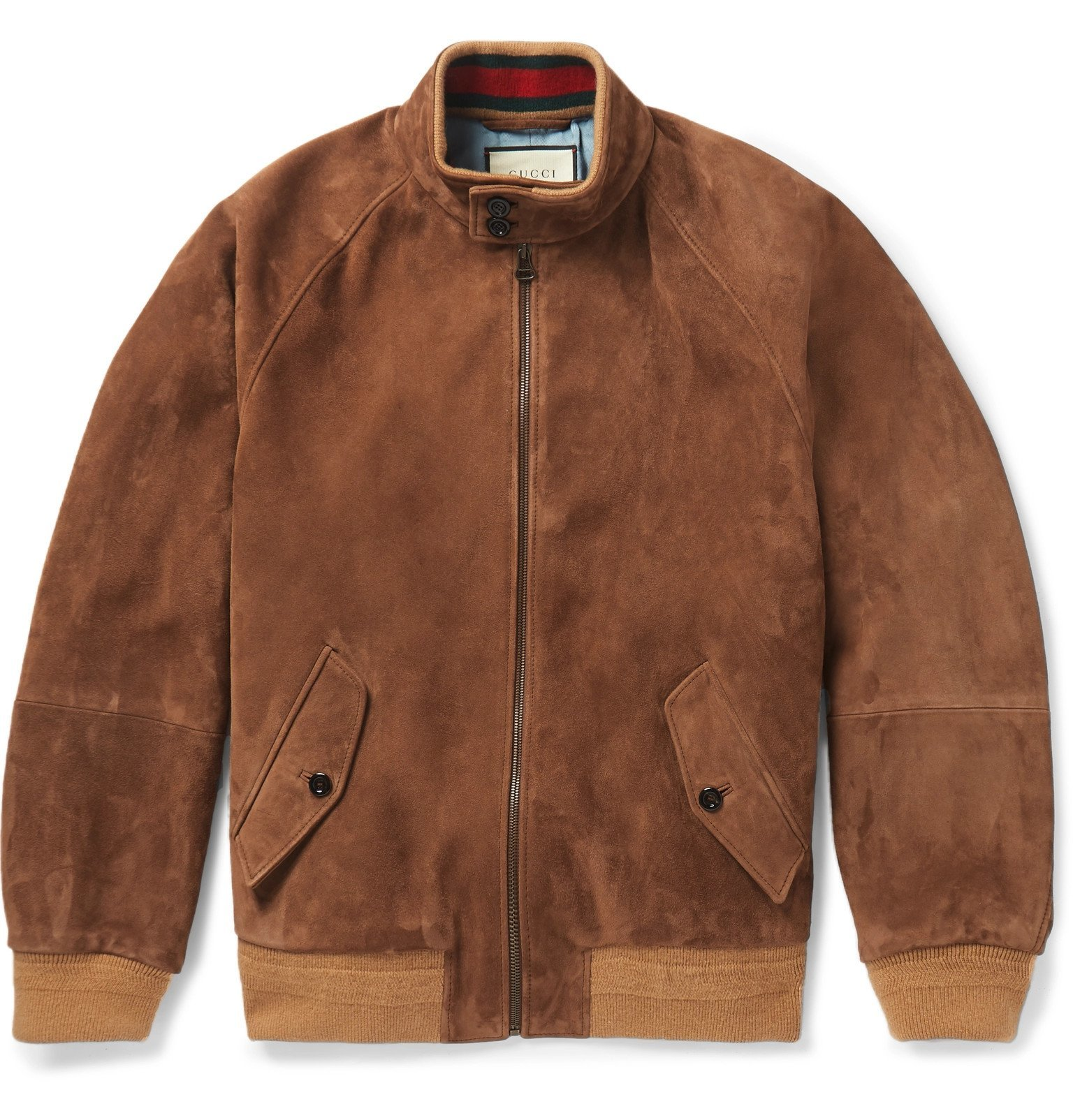 Photo: Gucci - Suede Bomber Jacket - Brown